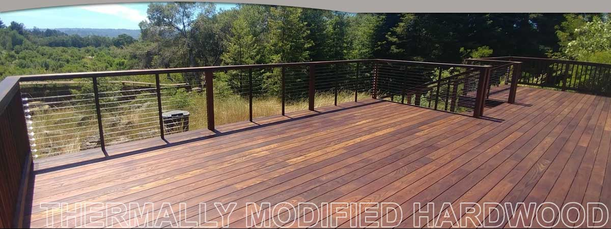 Thermally Modified Hardwood products by Holbrook Lumber Company