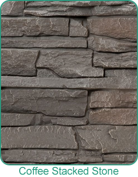 Holbrook Lumber Coffee Stacked Faux Stone by GenStone