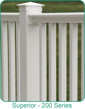 Holbrook Lumber Vinyl Railing 200-Series by Superior